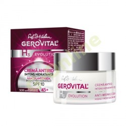 Gerovital Evolution Intenzíven hidratáló ránctalanító krém UV szűrővel SPF10 (45+)