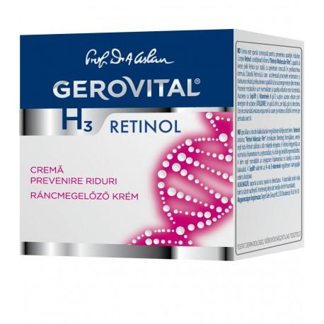 Gerovital H3 Retinol Ráncmegelőző Krém
