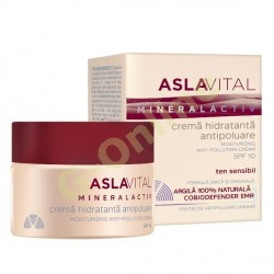 Moisturizing anti-pollution cream SPF10