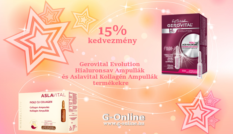 Gerovital H3 and Aslavital Ampoules 15% OFF