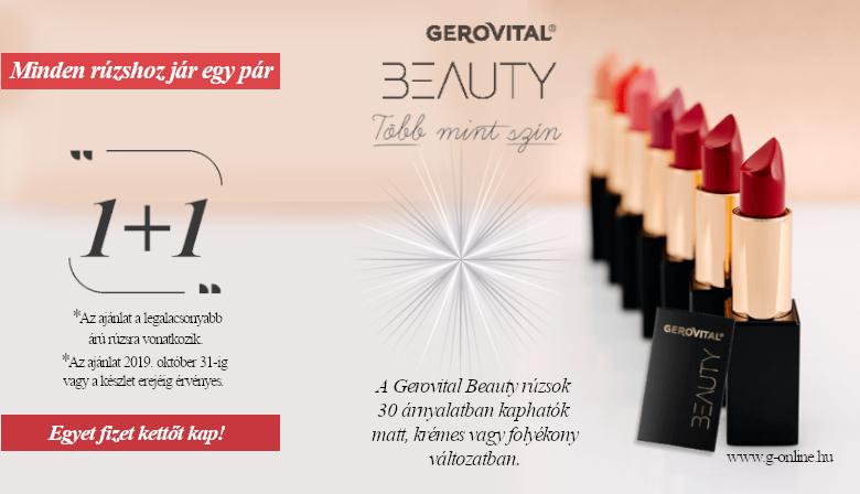 Minden Gerovital Beauty rúzshoz jár egy pár!
