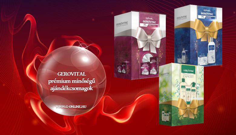 GEROVITAL prémium minőségű  ajándékcsomagok