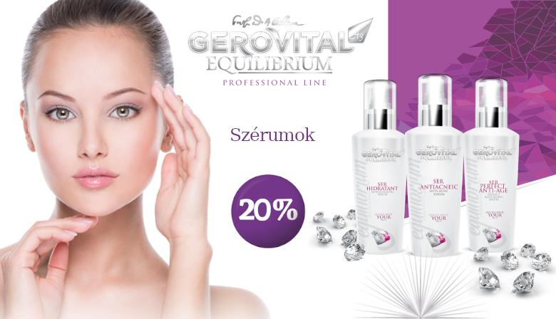 Gerovital Equilibrium Szérumok -20%