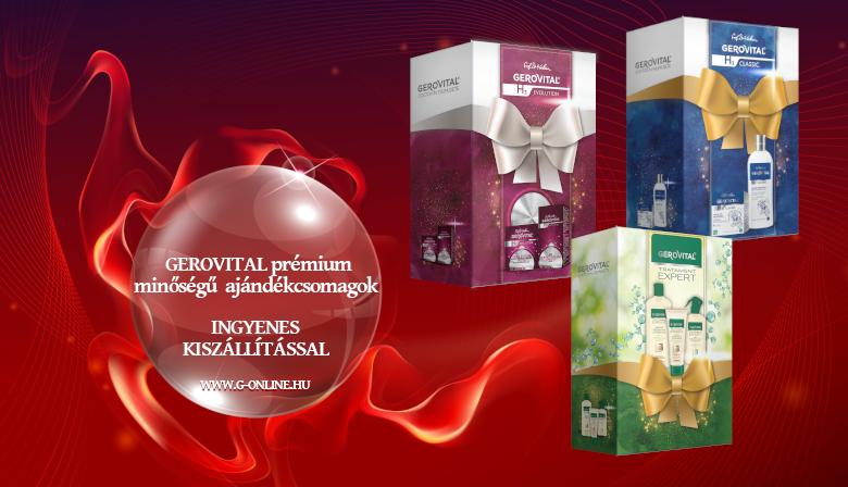 GEROVITAL prémium minőségű  ajándékcsomagok, INGYENES KISZÁLLÍTÁSSAL